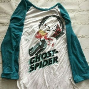 Marvel Rising Ghost Spider 3/4 Sleeve Raglan T-Shi